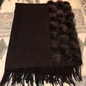 Fur shawl for women